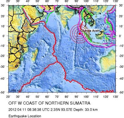 Tsunami warning after 8.7 magnitude earthquake hit Northern Sumatra, Indonesia