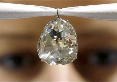 Historic 34.98 carat diamond fetched $9.7 million at Sotheby\'s auction