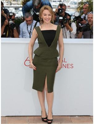 Cannes 2012: Kylie Minogue steps on the red carpet for her film Holy Motors