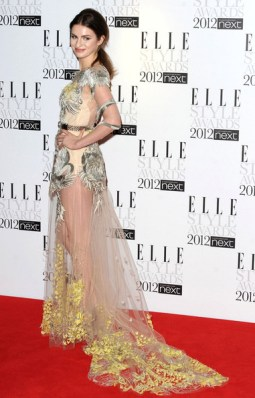 Model Tali Lennox shows too much of her underwear at Elle Style Awards in London