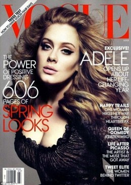 Grammy awarded singer Adele lands on Vogue\'s cover, March issue