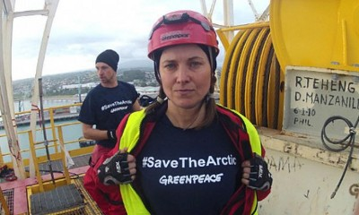 Actress Lucy Lawless arrested along Greenpeace activists in oil-ship protest