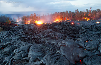 Last home in Hawaii\'s Puna district destroyed by lava flow from Kilauea volcano biography