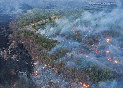 Last home in Hawaii\'s Puna district destroyed by lava flow from Kilauea volcano